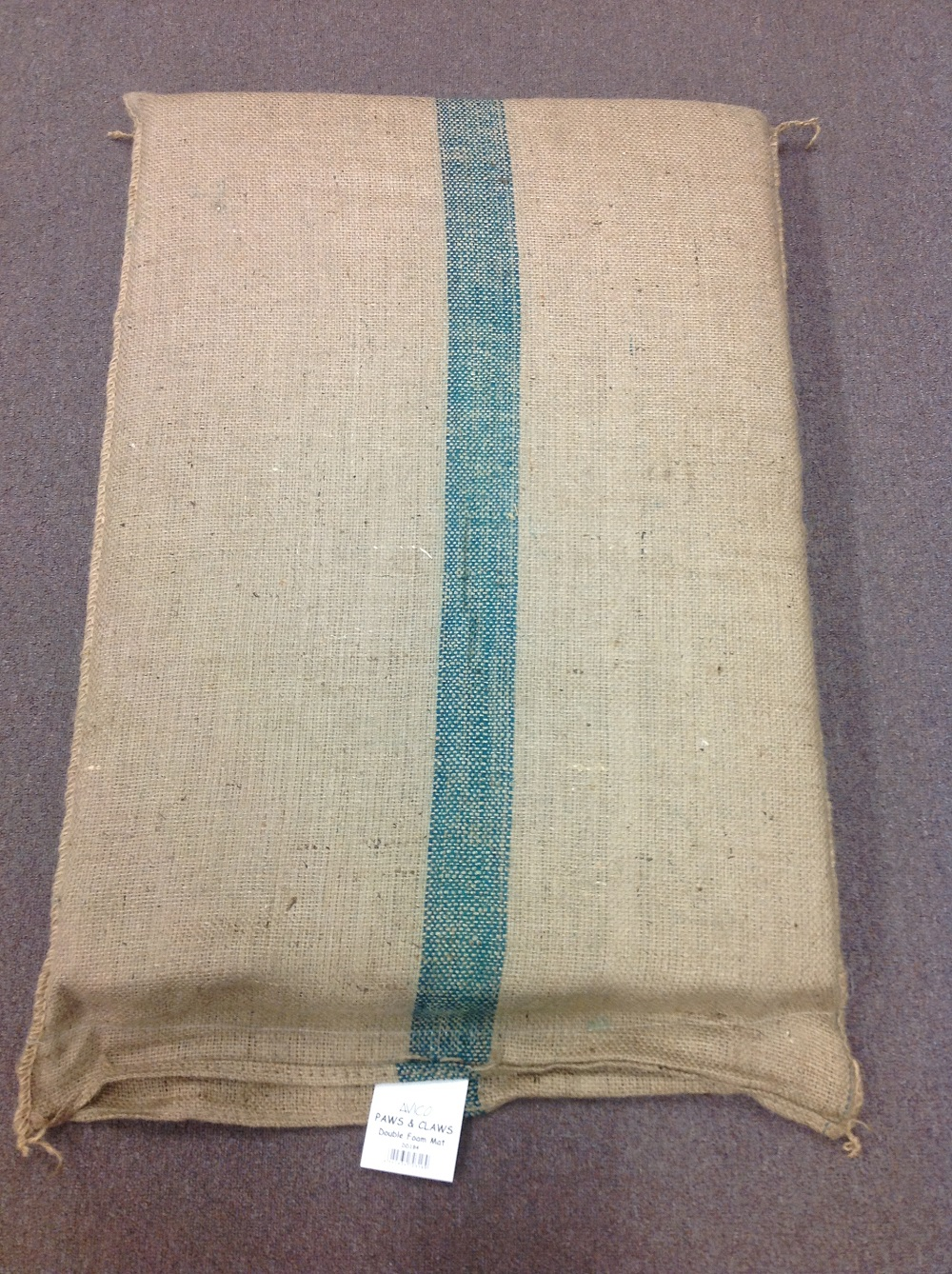 DOUBLE THICK FOAM HESSIAN DOG BED 107x74x8cmH